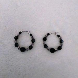 NWOT Silver Black Onyx Earrings